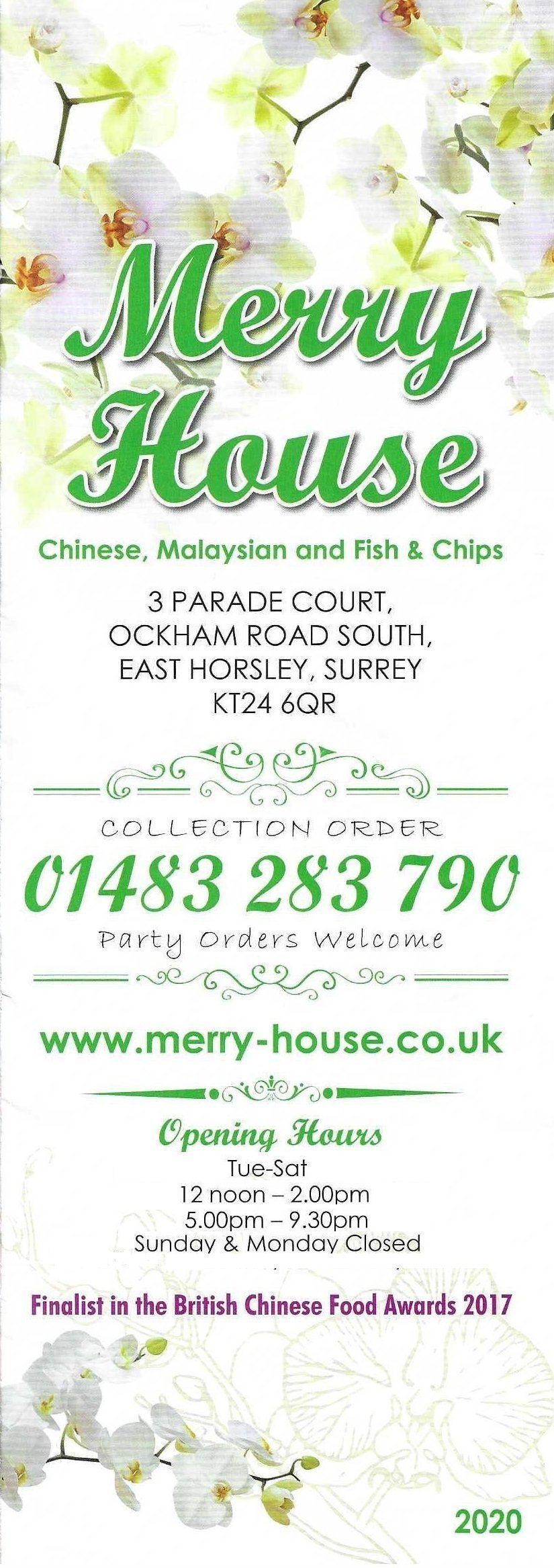 Merry House revised opening hours